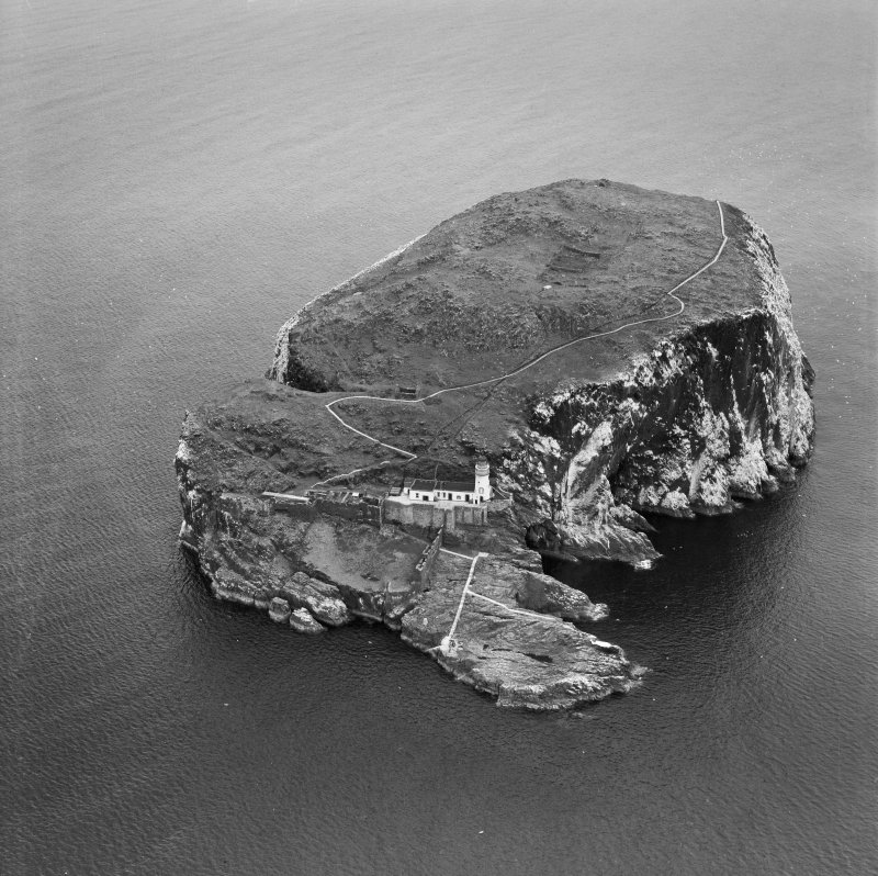 Bass Rock, North Berwick.  Oblique aerial photograph taken facing north.
