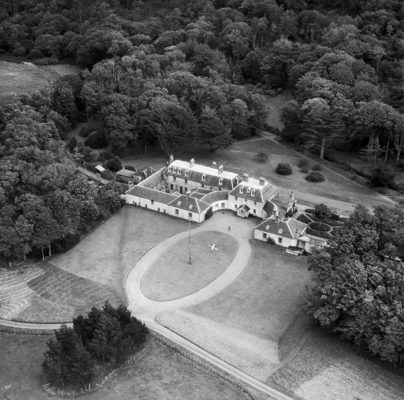 Colonsay House, Kiloran, Colonsay.  Oblique aerial photograph taken facing south-east.
