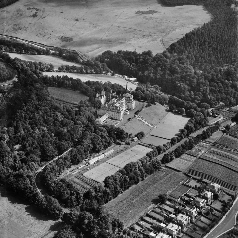 Hydropathic Hotel, Innerleithen Road, Peebles.  Oblique aerial photograph taken facing east.