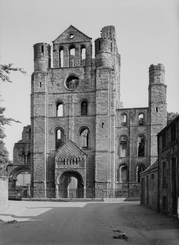 Kelso Abbey; N transept from N.