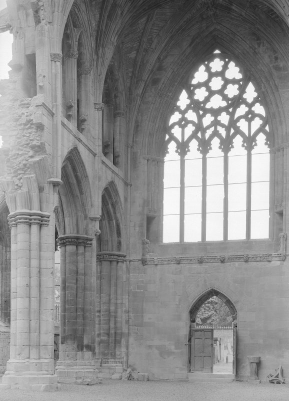 View of S transept.