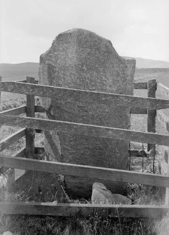 View of incribed grave stone.
