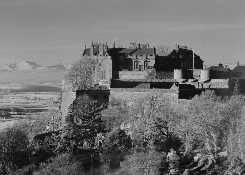 Stirling Castle, general View from Holyrude Church tower