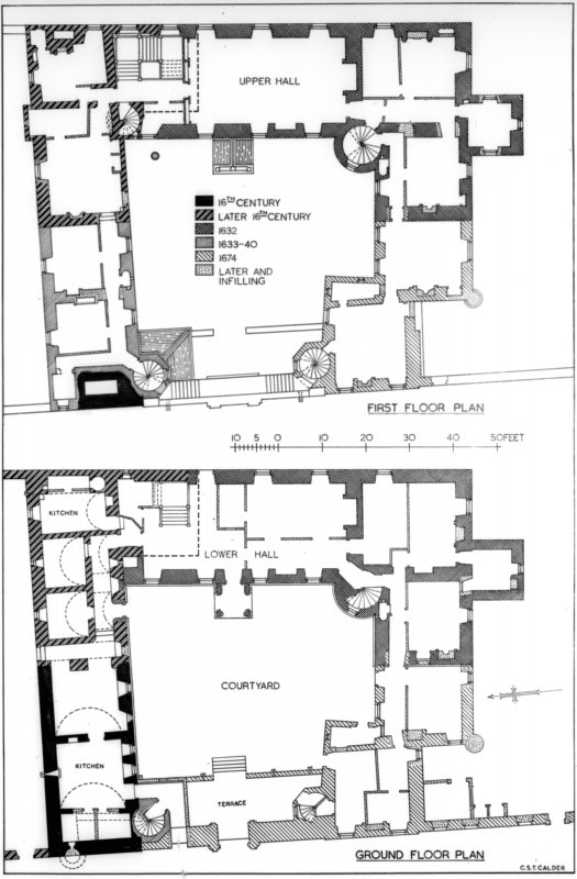 Ground and first floor plans - copy on glass