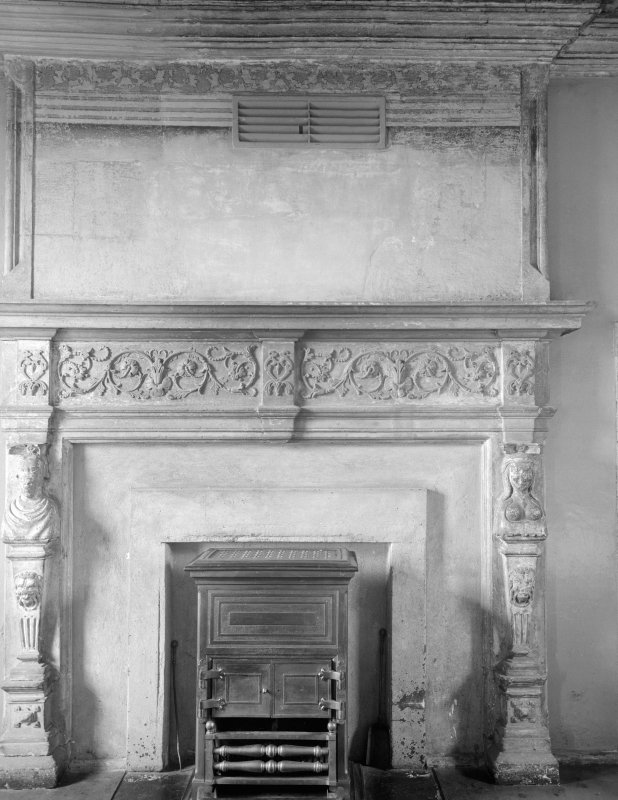 Detail of fireplace in ward 1.