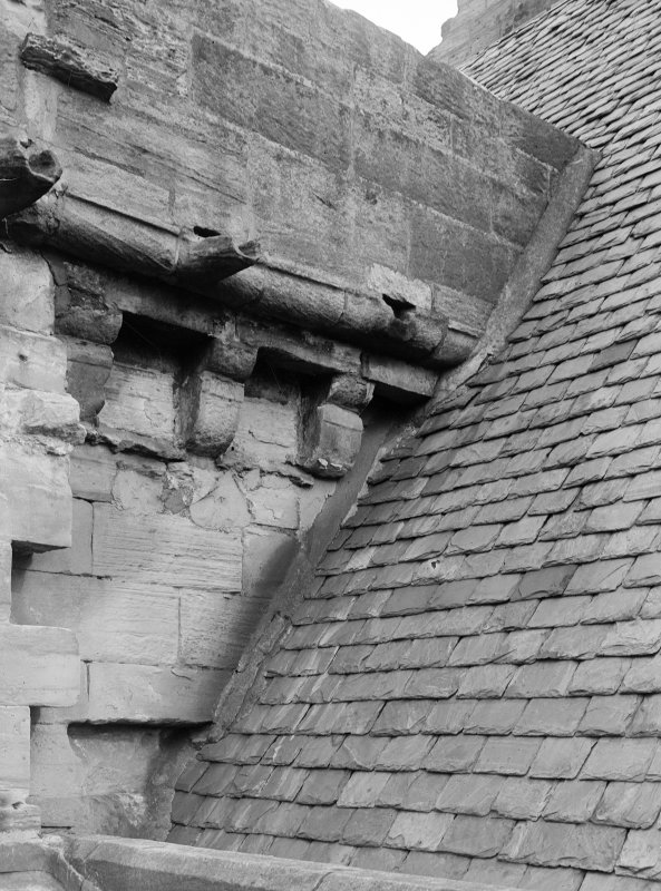 Detail of corbelling.