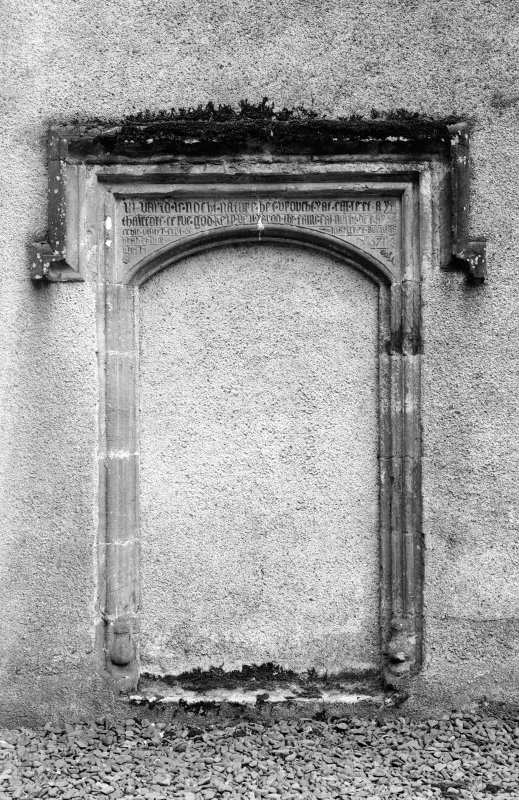 Detail of door with inscribed lintel.