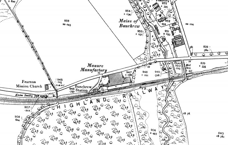 Extract from the 2nd Edition of the OS 25 inch map (Inverness-shire (Mainland) 1904, Sheet 011.03)