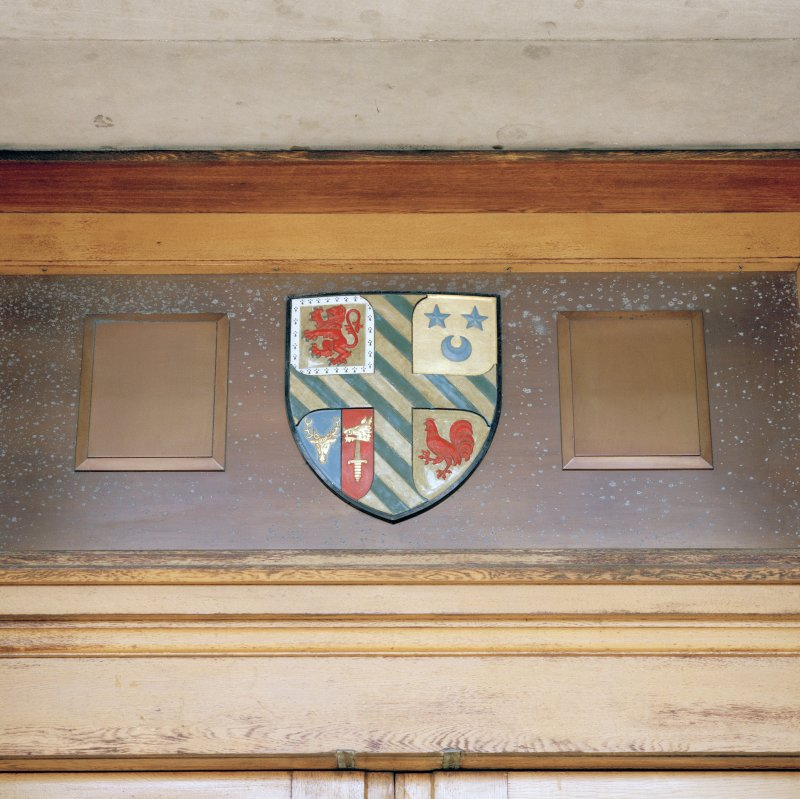 Detail of coat of arms above main entrance