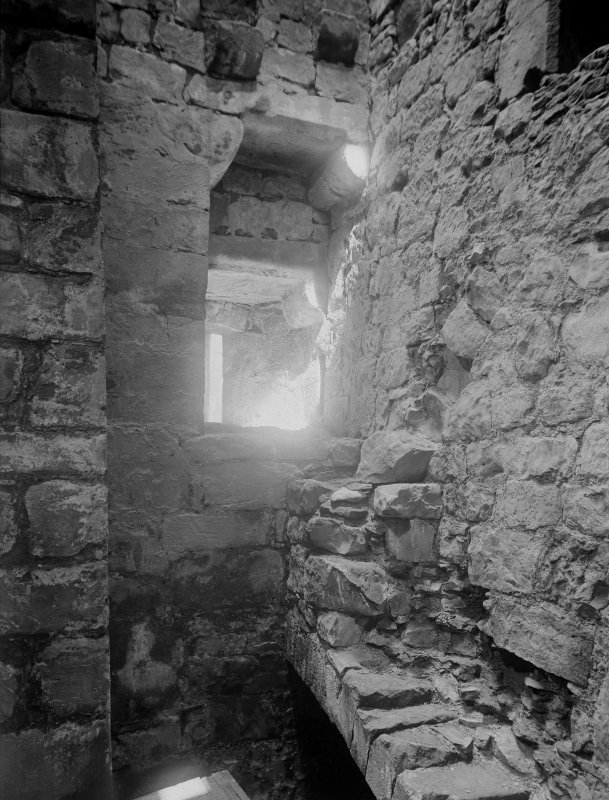 Interior of SE tower over postern.