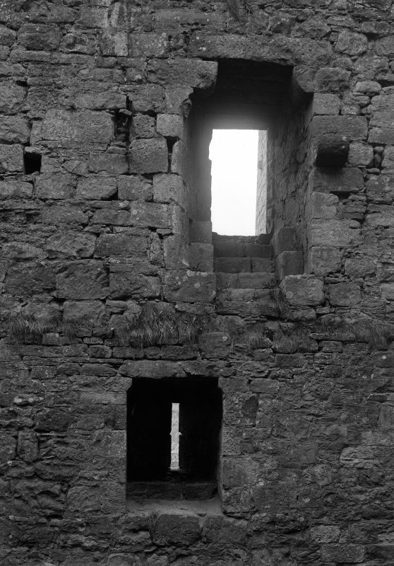 Interior view of windows, S wall.