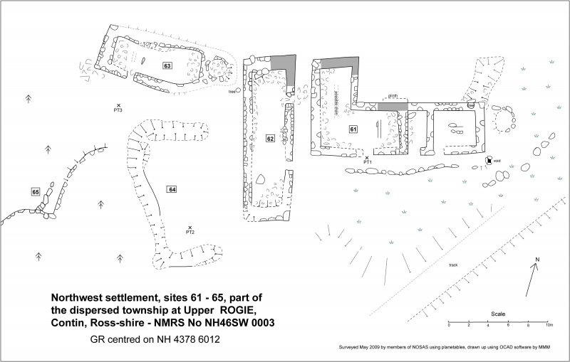 NW settlement C at Upper Rogie (61-65)