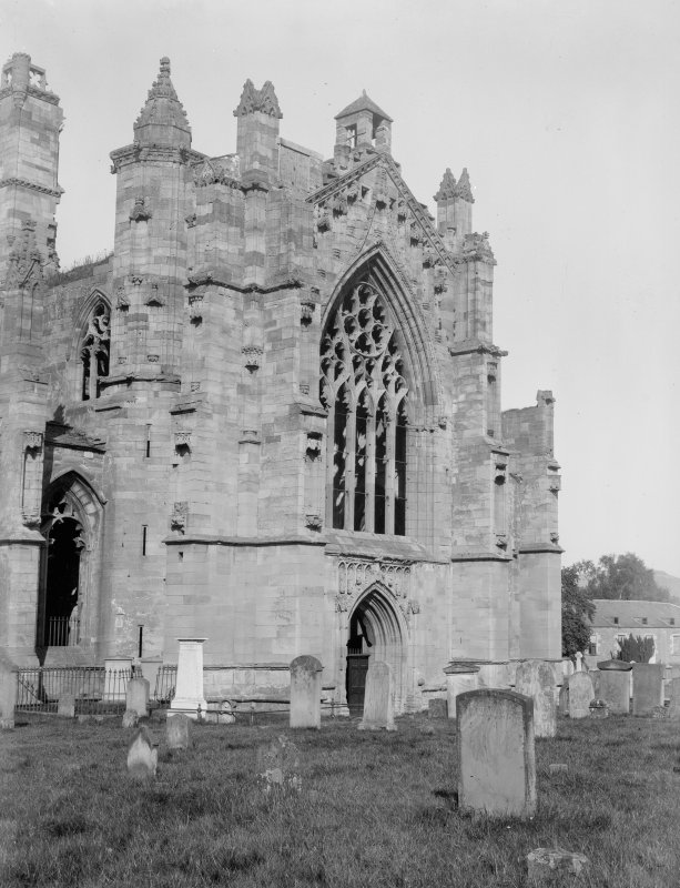 View of S transept from SW.