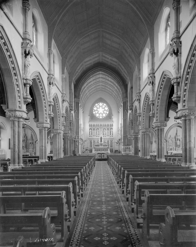 Interior. View of Nave and Choir from West.