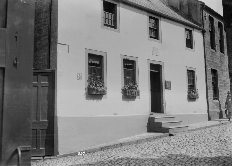 View of Burns House, Dumfries from NW. Titled: 'no 397. Dumfries Burns House. Lecture 12. Slide 10'
