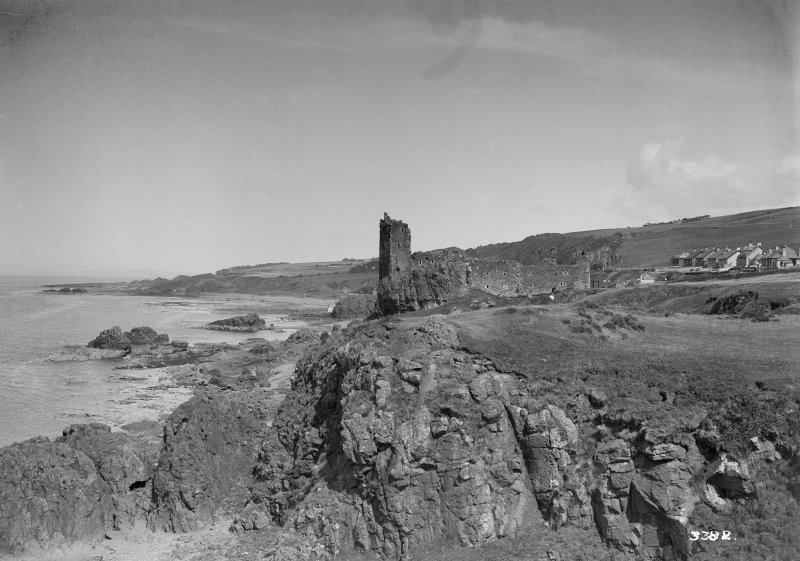 View of Dunure Castle from SW.