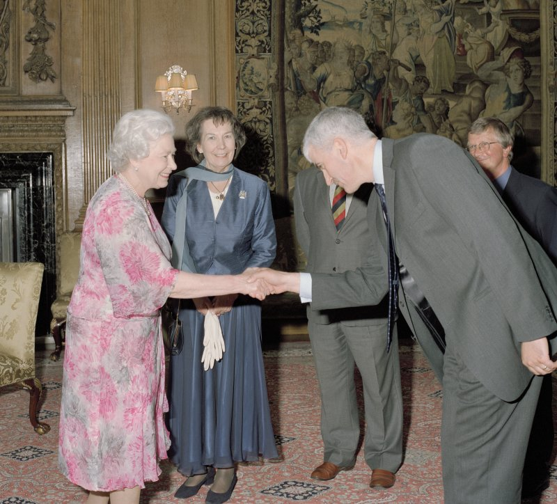 Steve Wallace being presented to HM The Queen.