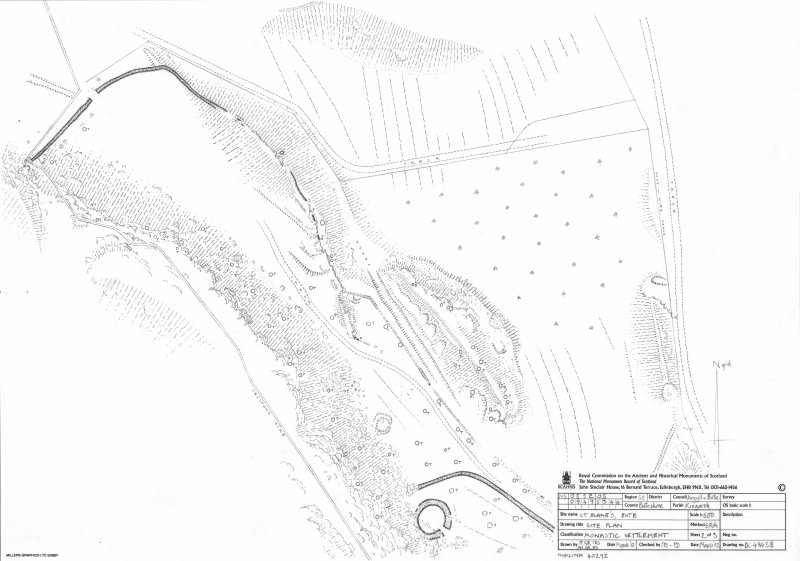 St Blane's, Bute. RCAHMS Site Plan 2 of 3