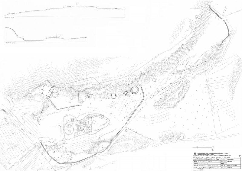 St Blane's, Bute. Scan of  composite site plan derived from field survey drawings.