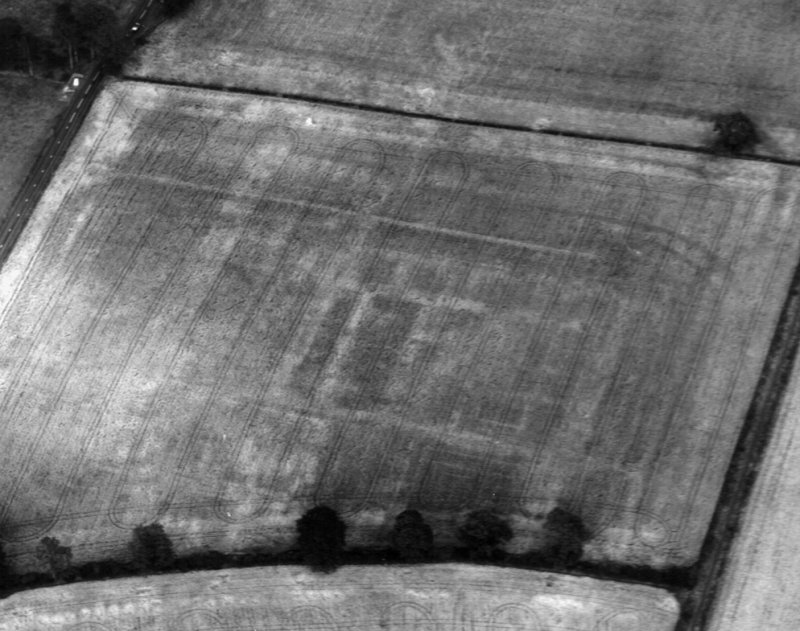 Newstead, Roman fort: RCAHMS air photograph showing annexe (NT 571 341)