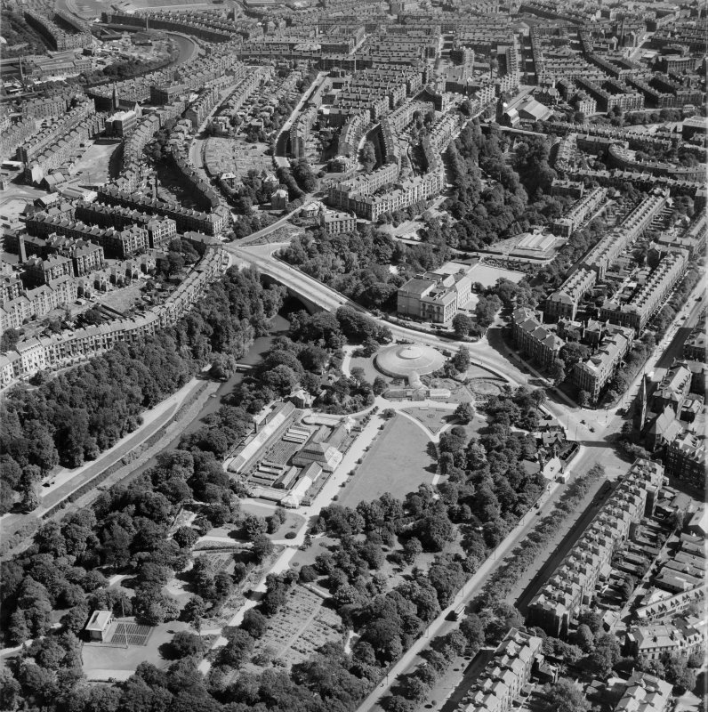 Glasgow, general view, showing Botanic Gardens and Fergus Drive.  Oblique aerial photograph taken facing east.