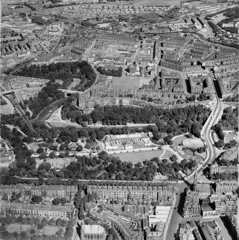 Glasgow, general view, showing Botanic Gardens and Sanda Street.  Oblique aerial photograph taken facing north.
