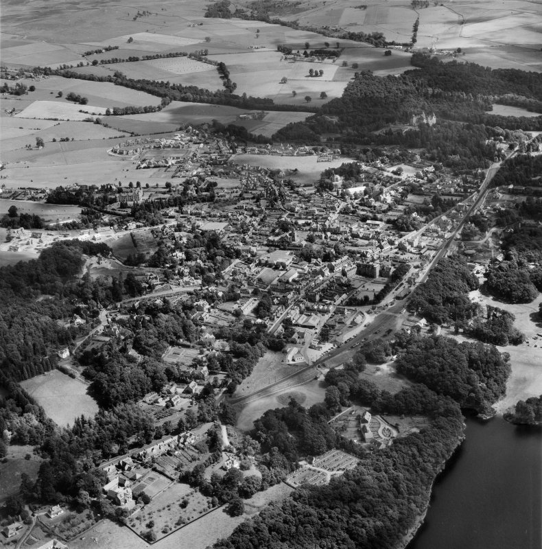 Pitlochry, general view.  Oblique aerial photograph taken facing east.