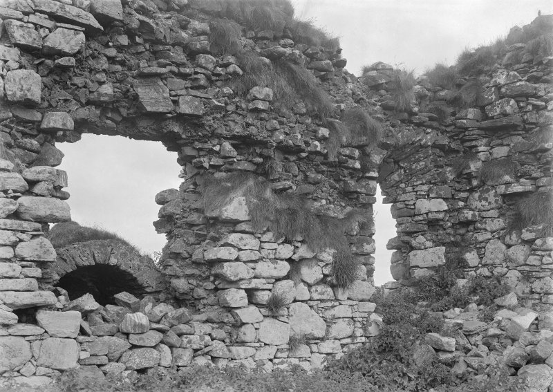View of ruined interior.