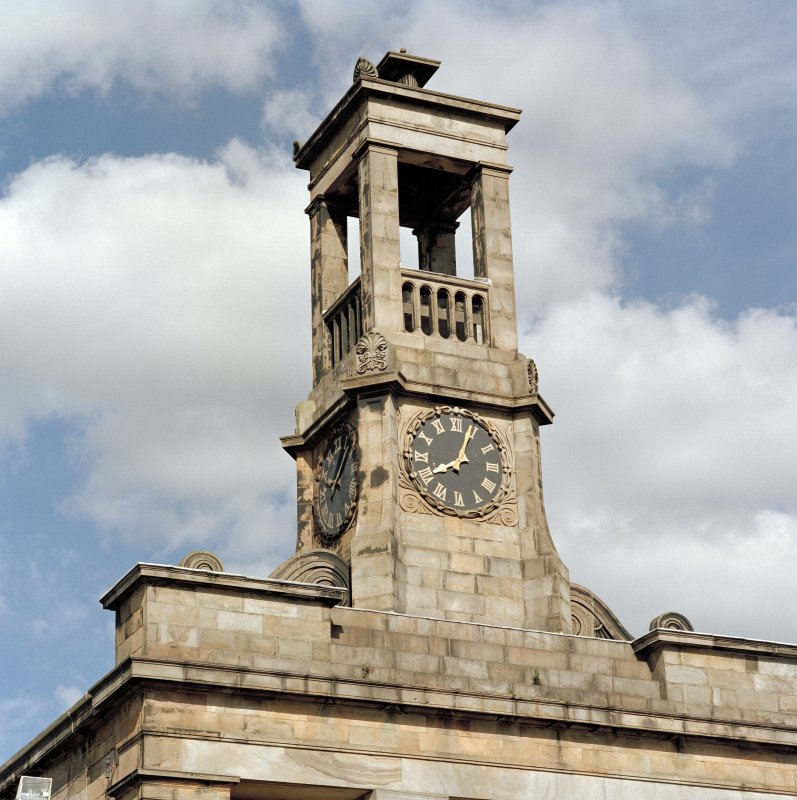 Detail of clock tower, Bathgate Academy.
