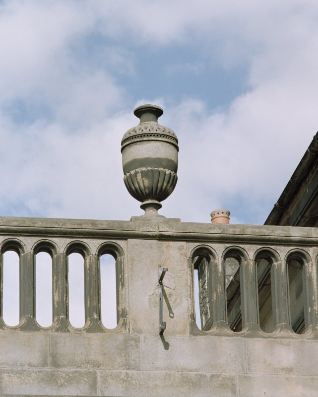 Detail of urn on parapet