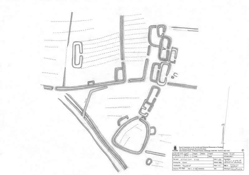 Scanned version of DC49404 - pencil drawing depicting Ettleton Sike township