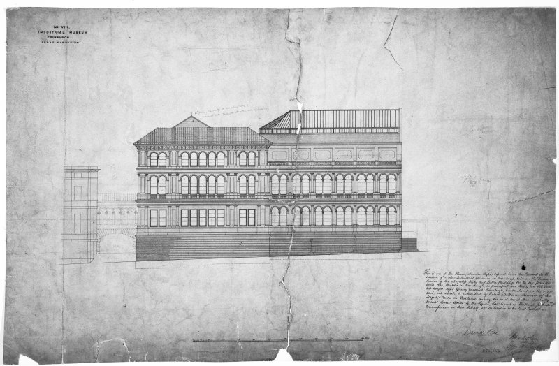 Photographic view of plan of Front Elevation by Robert Matheson 1861