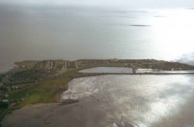 Oblique aerial view of Troon Harbour, Ayrshire, taken from the NE.