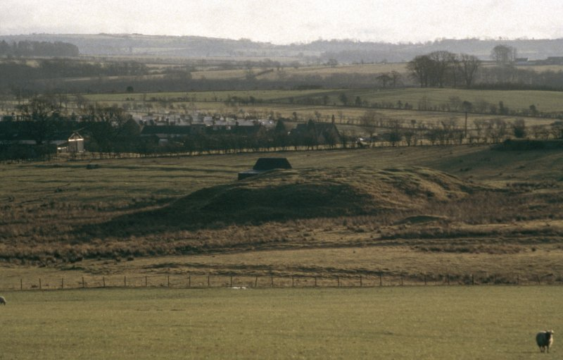 View of Rownaburn coal mine looking NE to spoil tips and Rowanburn village.