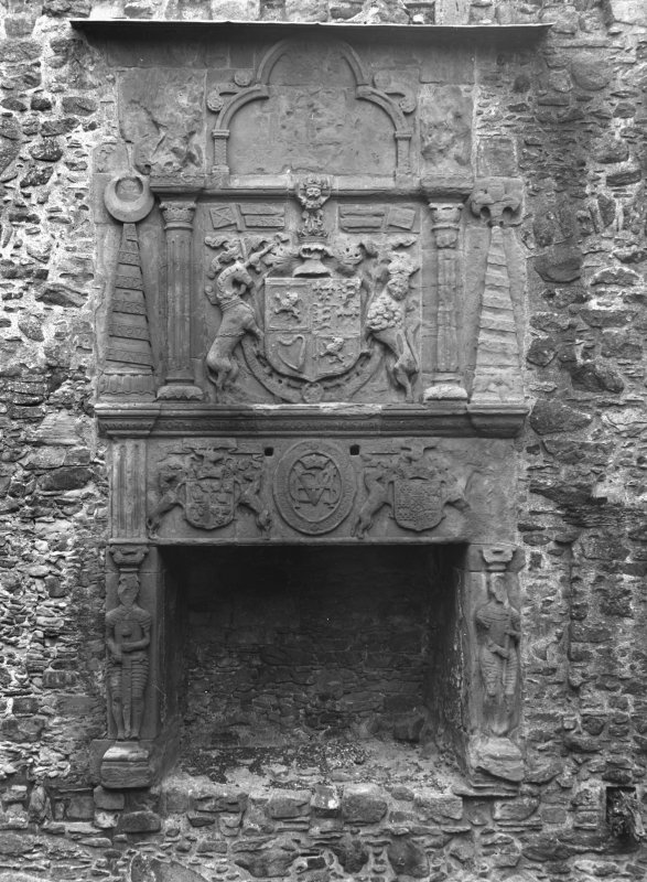 Interior. View of chimneypiece.