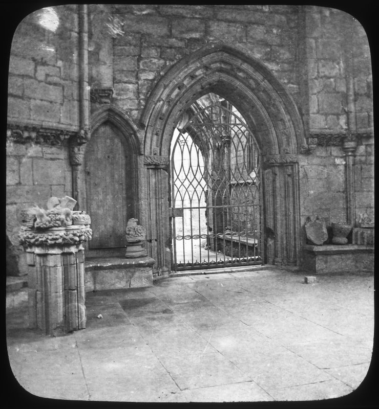 Interior. View of doorway.