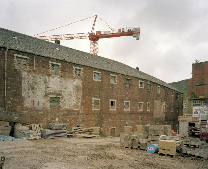 Edinburgh, 93 Holyrood Road, Holyrood Brewery View from north west of south-west side of Tun Room range