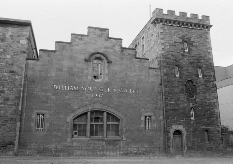 View of South East front of Holyrood Brewery, Edinburgh. Since demolished.
