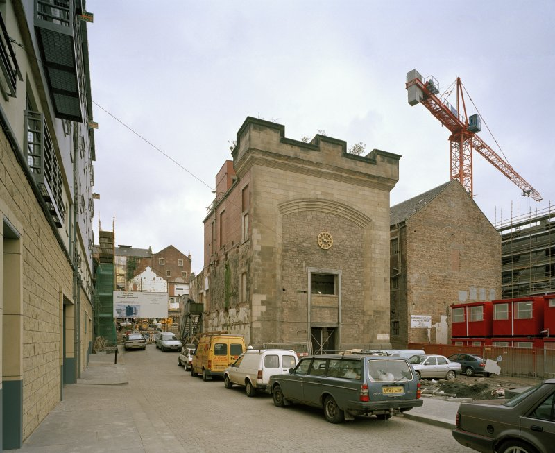 Edinburgh, 93 Holyrood Road, Holyrood Brewery General view from south of 'Clock Tower' building