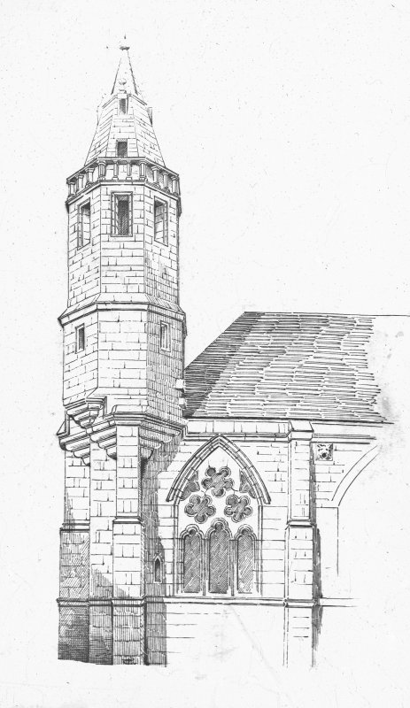 Sketch of steeple.
