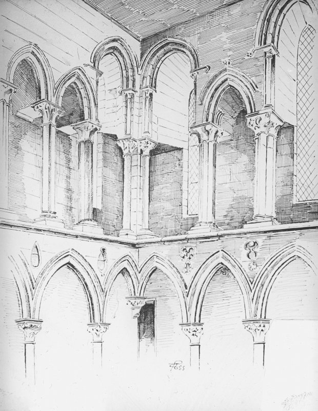 Sketch of interior.