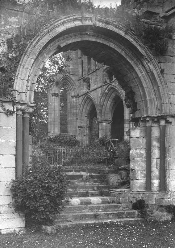 View through cloister entrance.