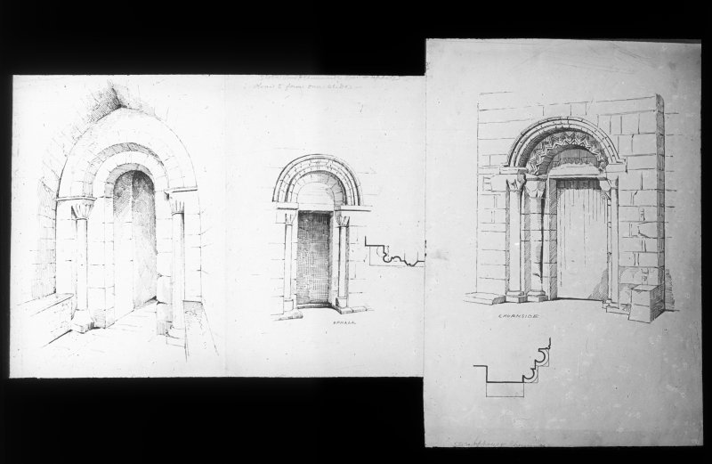 Drawings of doorways.