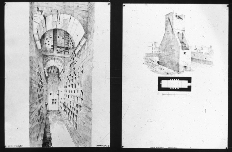 Detail interior drawing and elevation.