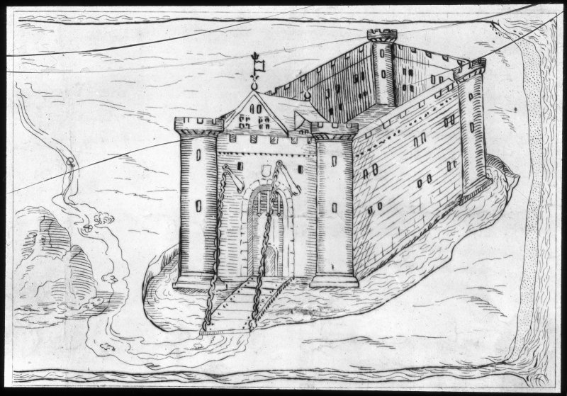 Sketch of castle.