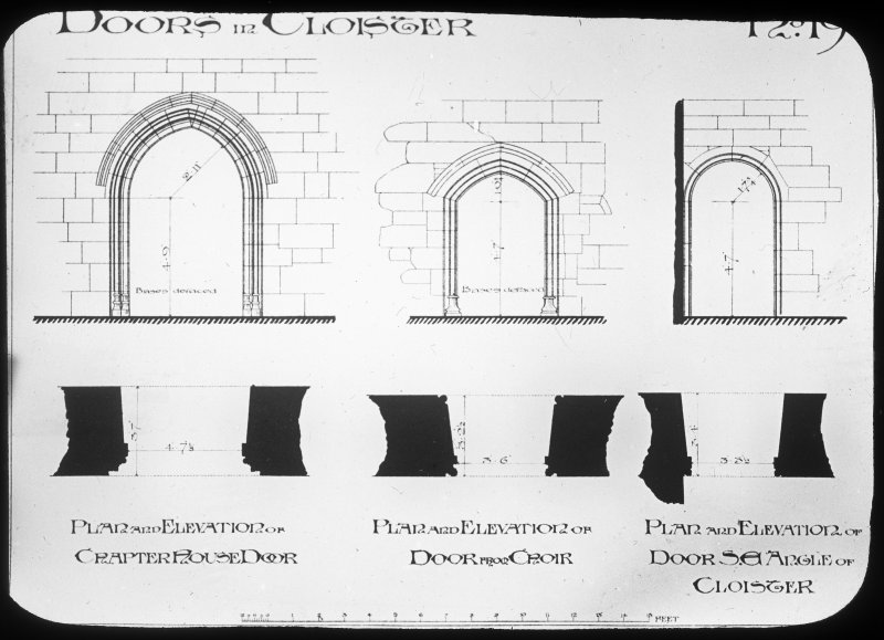 Plans and elevations of doorways.