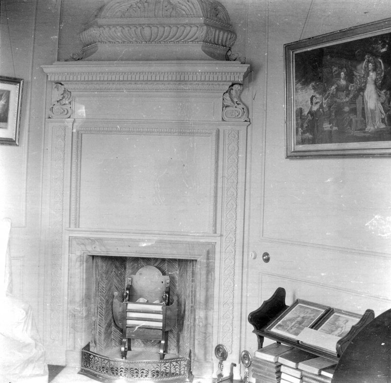 Kinross House, Interior. General view of fireplace.
