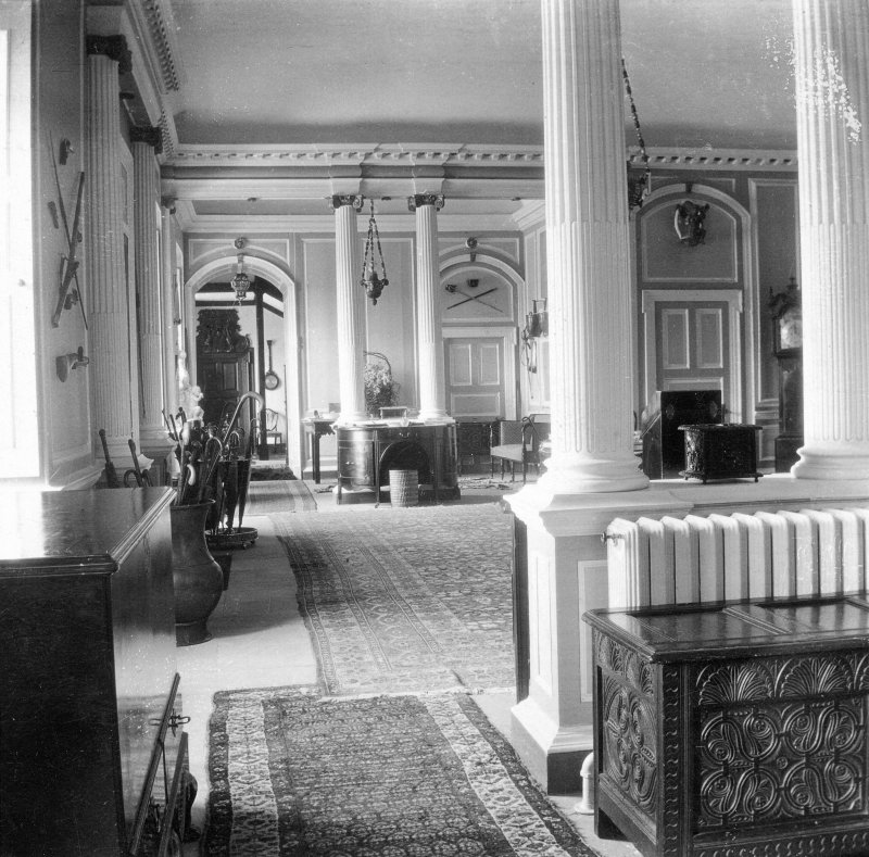 Kinross House, Interior. General view of entrance hall.