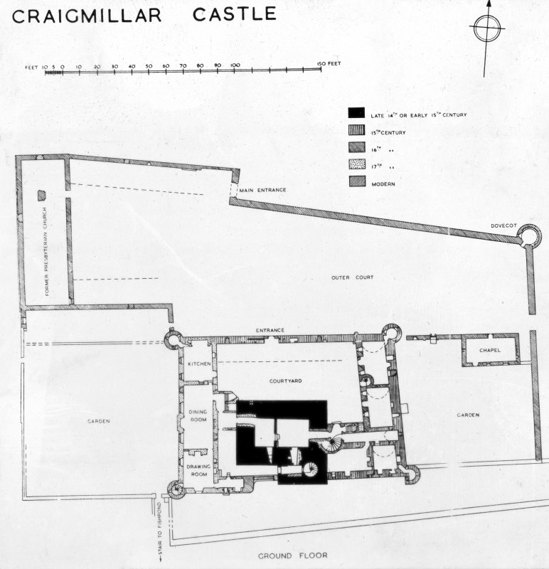 Ground floor plan, insc: 'Craigmillar Castle'.