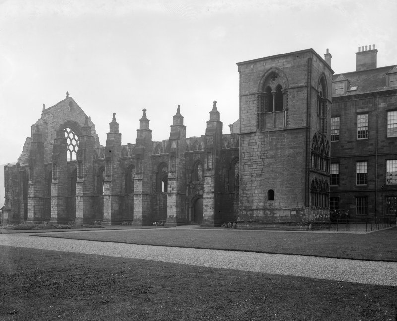 General view of Holyrood Abbey from North